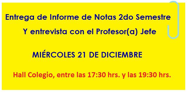 ENTREGA DE NOTAS 2016 2DO